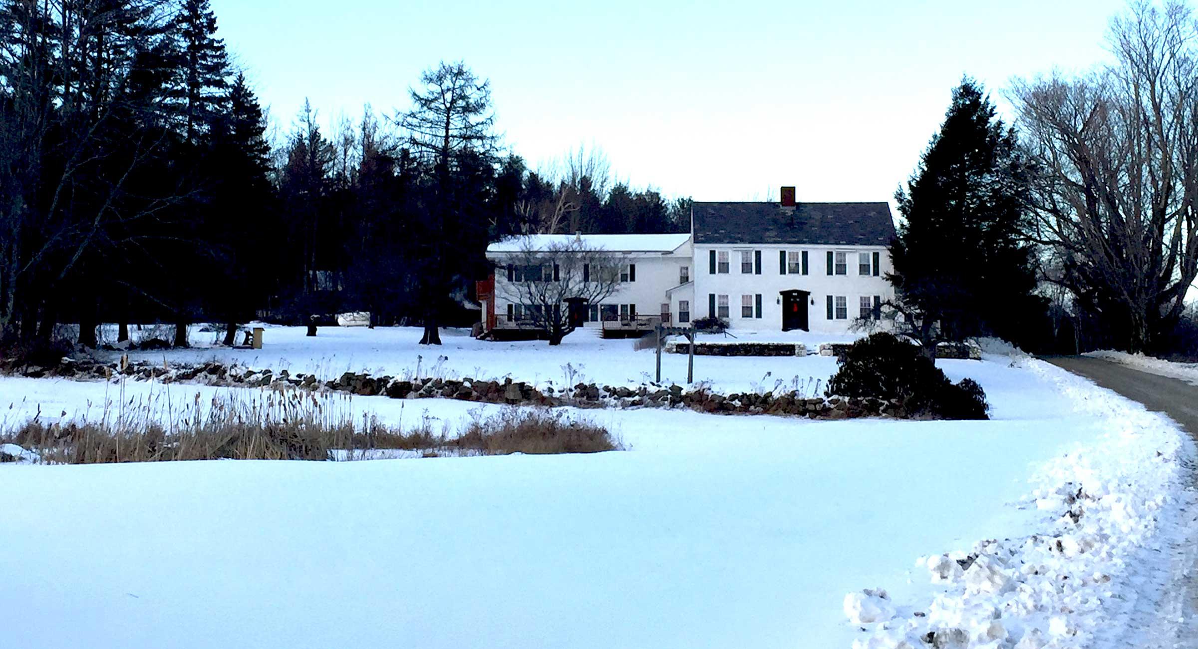 Colonel Williams in the snow